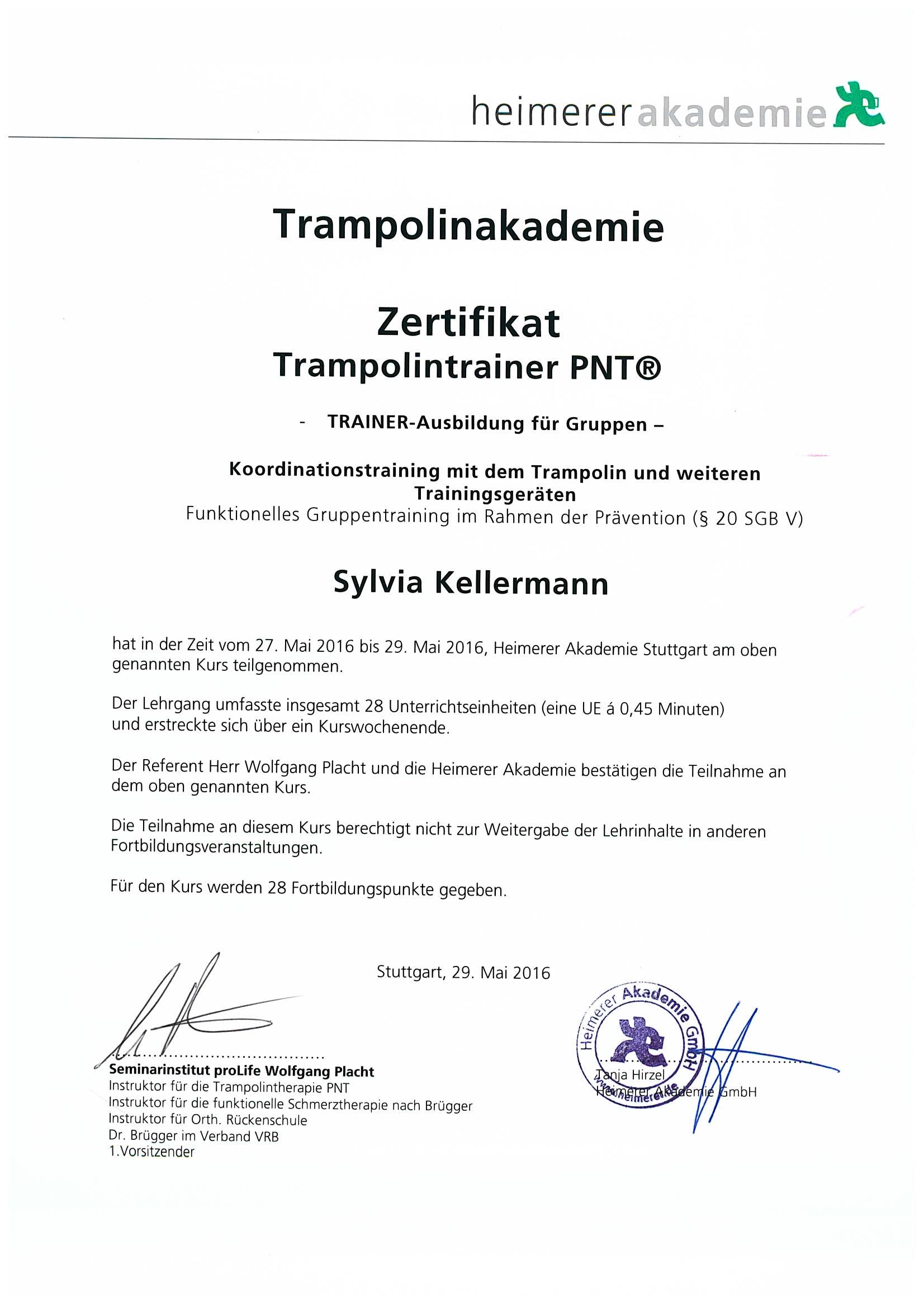 Zertifikate Sylvia Kellermann Präventologe Gesundheits-Coach